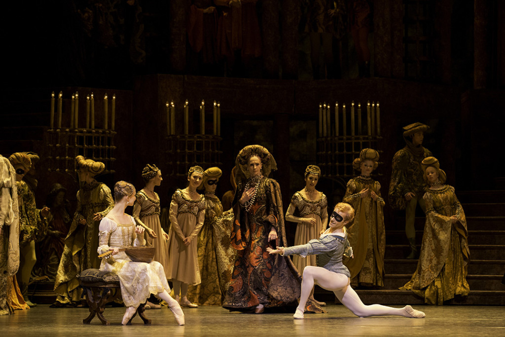 ROMEO AND JULIET ; Music by Prokofiev ; Choreography by Macmillan ; Evgenia Obraztsova (as Juliet), Steven McRae (as Romeo) and Artists of The Royal Ballet ; Designed by Nicholas Georgiadis ;  Lighting Design by William Bundy and John B Read ; The Royal Ballet ; At the Royal Opera House, London, UK ;  19 October 2013 ; Credit: Johan Persson / Royal Opera House / ArenaPAL ; ROMEO AND JULIET by MacMillan, ,           ,  ,Music-Serge Prokofiev, Choreography- Kenneth MacMillan, Designs-Nicholas Georgiadis, The Royal Ballet, The Royal Opera House, 2013, Credit: Johan Persson/ ROMEO AND JULIET by MacMillan, ,           ,  ,Music-Serge Prokofiev, Choreography- Kenneth MacMillan, Designs-Nicholas Georgiadis, The Royal Ballet, The Royal Opera House, 2013, Credit: Johan Persson/
